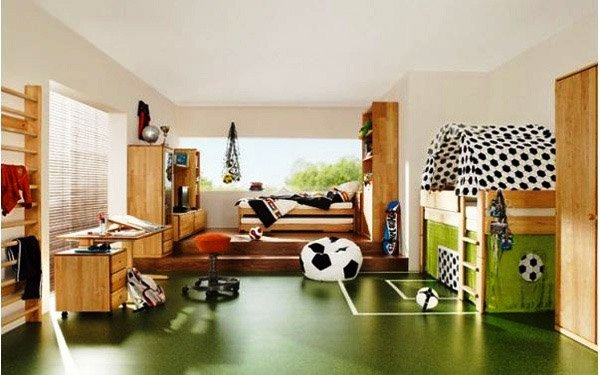 Football Themed Bedroom