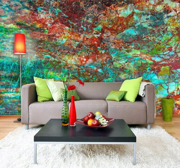 15 living rooms with interesting mural wallpapers home - Design your living room ...