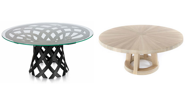 20 exceptional round dining table designs home design lover for Furniture table design examples
