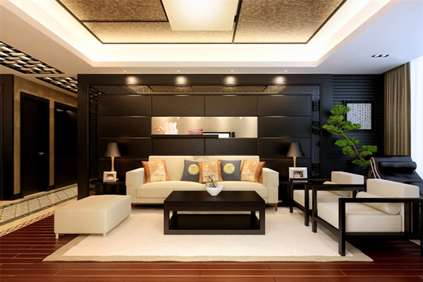 15 living room interiors for chinese new year home for Oriental furniture living room
