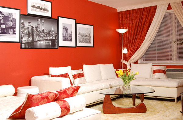 red themed rooms