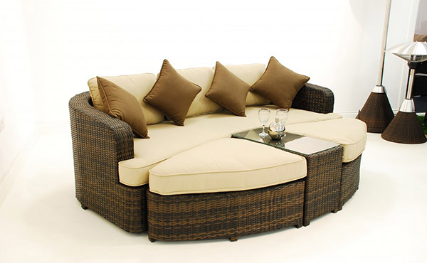 Make outdoor living comfy with 15 rattan daybeds home - Used living room furniture toronto ...