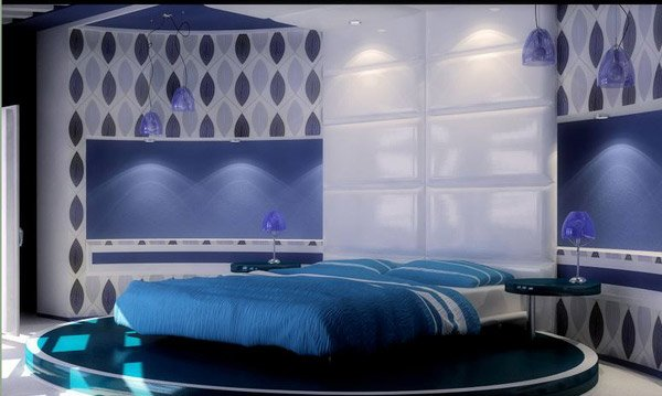 Blue Hues bedroom