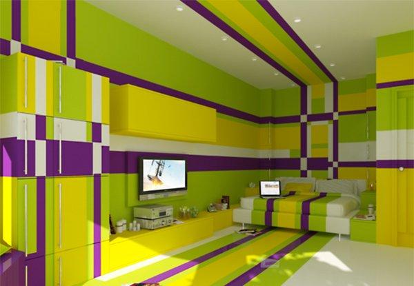 20 Multi-color Creative Bedroom Designs | Home Design Lover