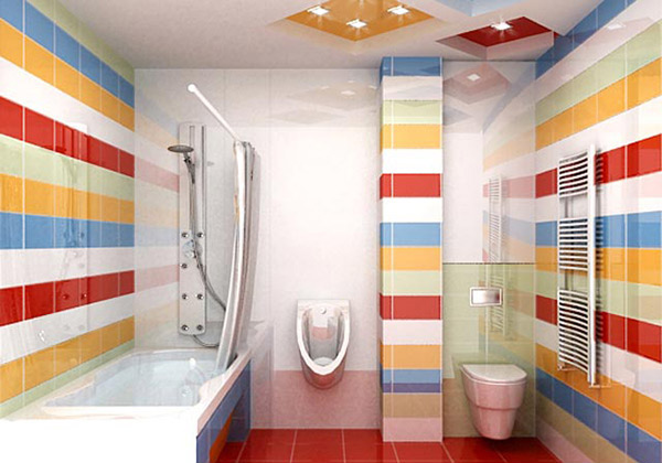 15 Lively Multi Colored Bathroom Designs Home Design Lover
