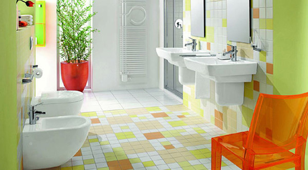 Bathroom Design And Colors 15 lively multi-colored bathroom designs | home design lover