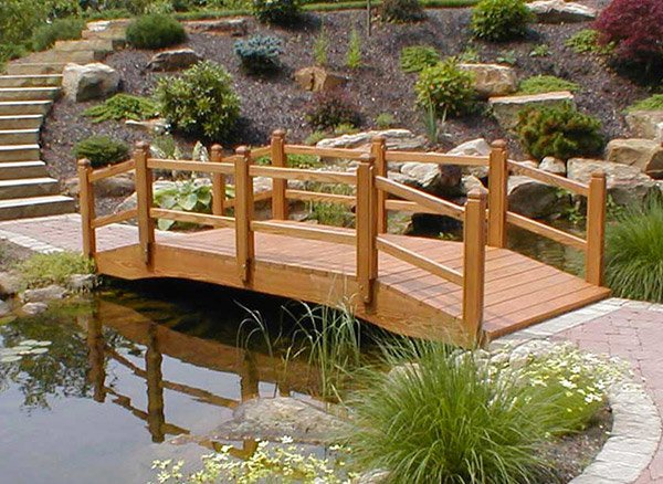 15 whimsical wooden garden bridges home design lover for Verdance landscape design