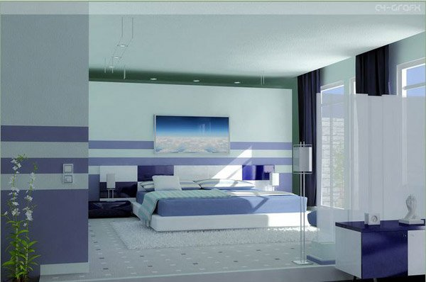 bedroom blue designs