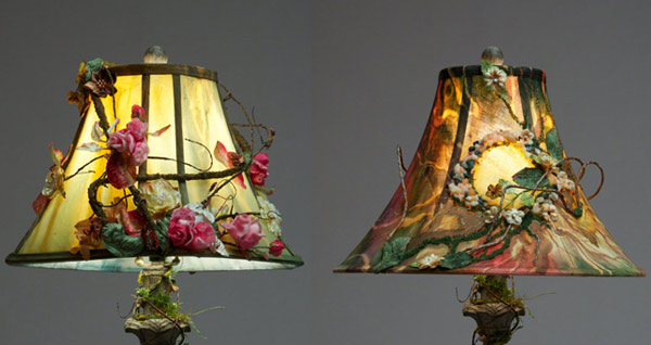 15 girly diy lamp shade designs home design lover hand painted lamp shade mozeypictures Images
