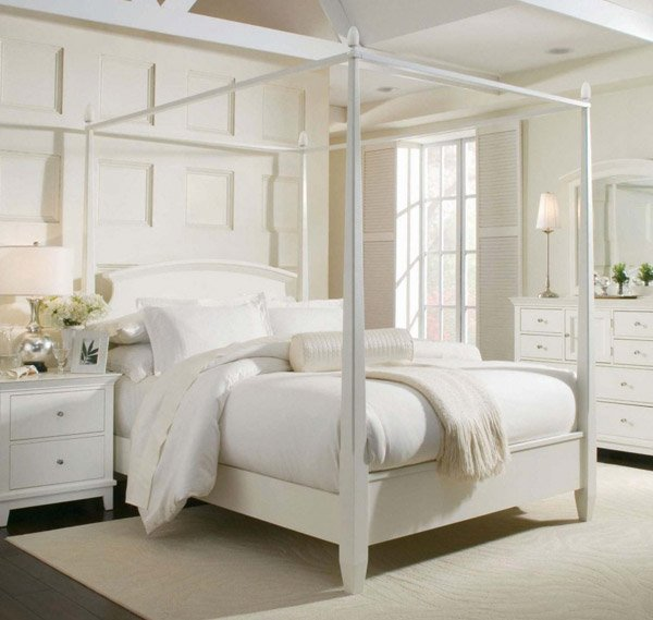 How To Use A Four Poster Bed Canopy To Good Effect: 15 Simple Four Poster Canopy Beds