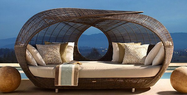 Make Outdoor Living Comfy with 15 Rattan Daybeds | Home ... on Belham Living Lilianna Outdoor Daybed id=57473