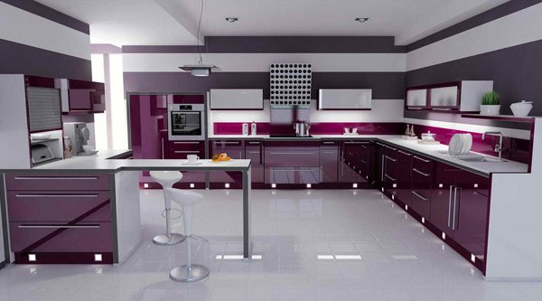 15 high gloss kitchen designs in bold color choices home for Kitchen designs colors