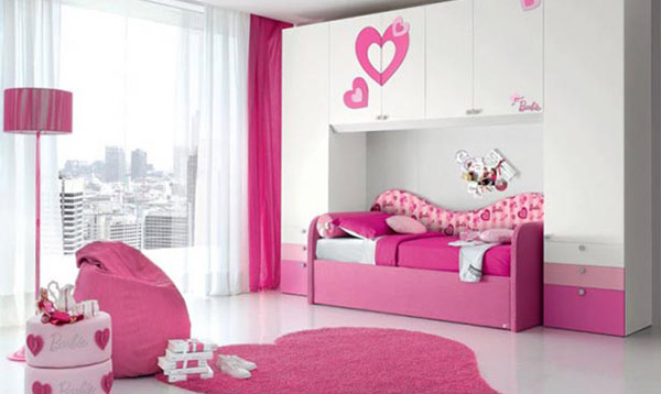 Heart Themed Bedroom designs