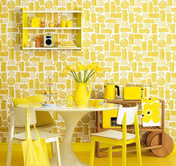 Retro Yellow Dining Room