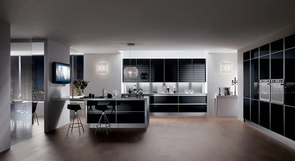 High Gloss Kitchen Cabinets Home Design Inspiration Zoov: 15 Black And Gray High Gloss Kitchen Designs