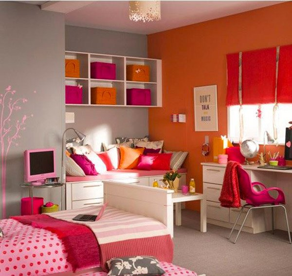 15 funky retro bedroom designs home design lover for Couleur chambre ado fille