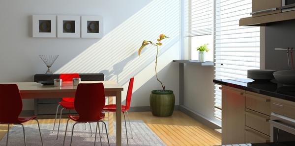 Use simple window treatments