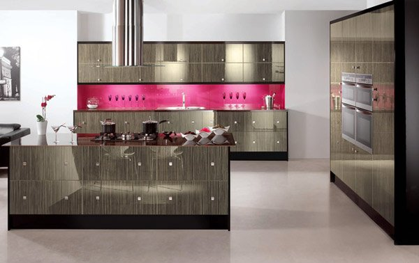 pink backsplash