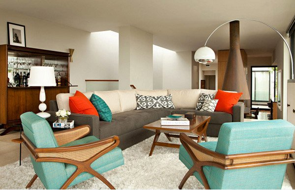Retro Living Rooms. Chris Barrett Design