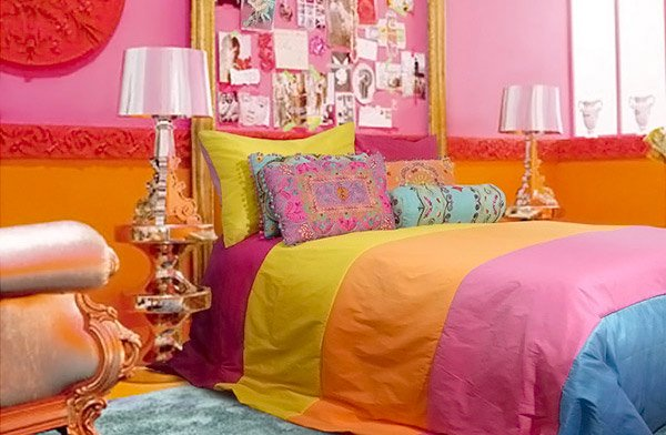 Funky Retro Bedroom Designs