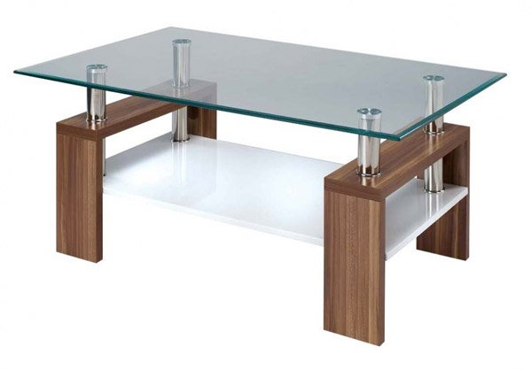 15 stylish rectangular glass top coffee tables home for Rectangular coffee table with glass top