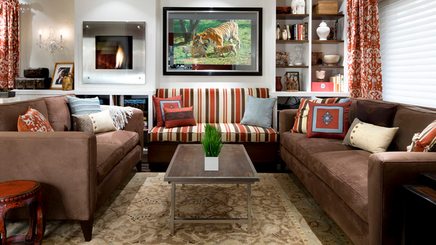 20 stunning earth toned living room designs home design for Earthy apartment decor