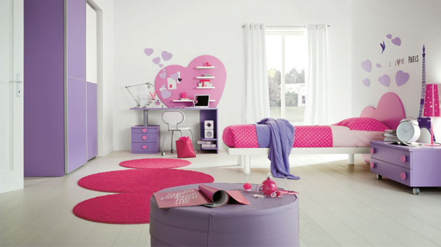 Kids Love Themed Bedroom Sets: Fall In Love With 15 Heart Themed Bedroom Designs