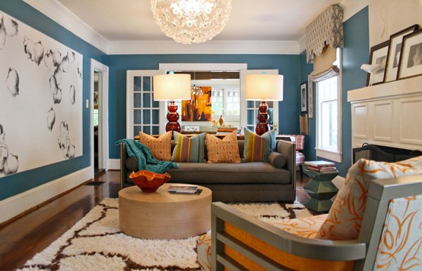 15 interesting living room paint ideas home design lover for Colour designs for living room