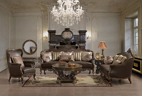 leather furnitures - Victorian Living Rooms