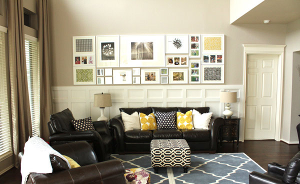 Bon Living Room Wall. Decor Chic