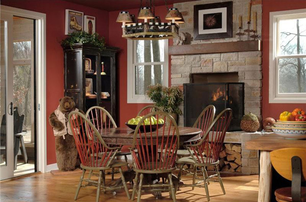 Susan Fredman Image Wonderful Rustic Dining Room