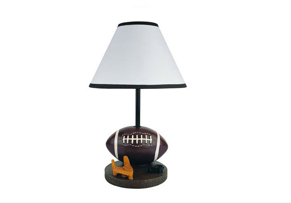 Painted Football Table Lamp