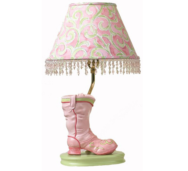 Pink Boot Lamp for kids