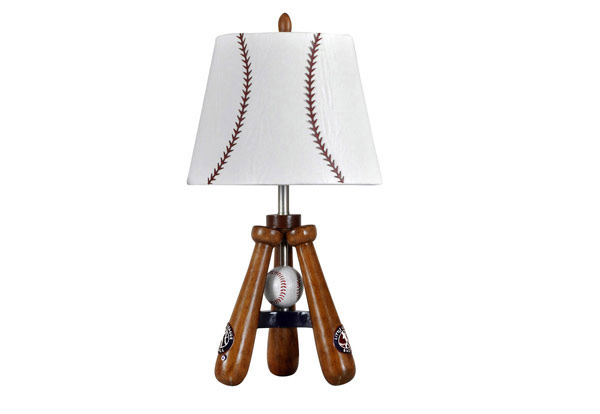 Baseball Theme Lamp With Bat And Ball Stand