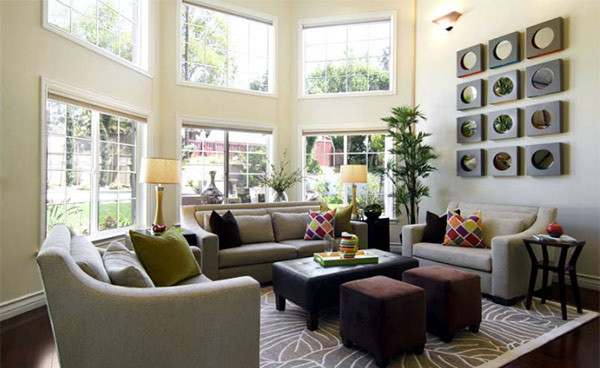 Beautiful Wall Decor Living Room Contemporary - Home Design Ideas ...