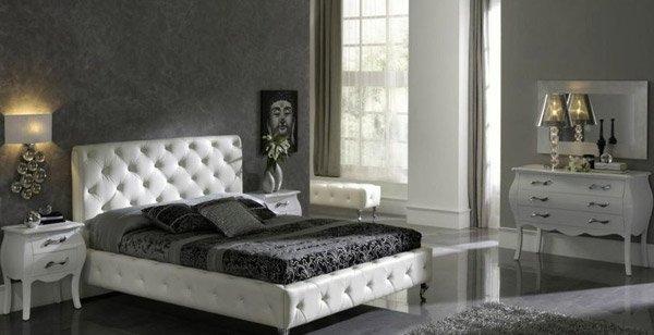 Luxury Black And White Bedroom