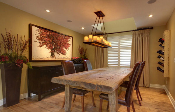 15 dining room paint ideas for your homes home design lover for Wall designs for dining area