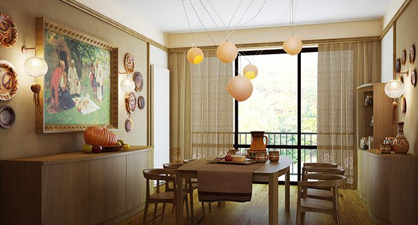 15 Gorgeous Dining Room Curtains | Home Design Lover