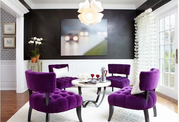 Cool 15 Purple Dining Room Ideas Home Design Lover Download Free Architecture Designs Scobabritishbridgeorg