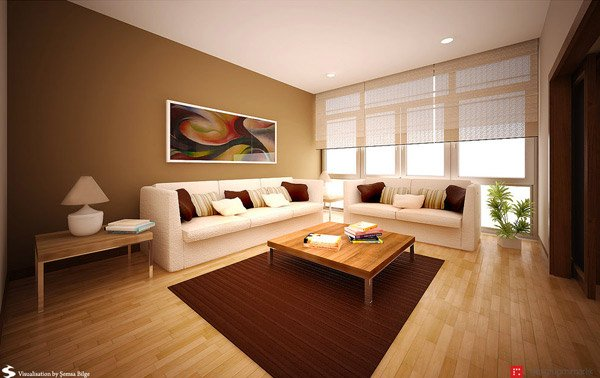 16 contemporary living room ideas home design lover for Living room ideas earth tones