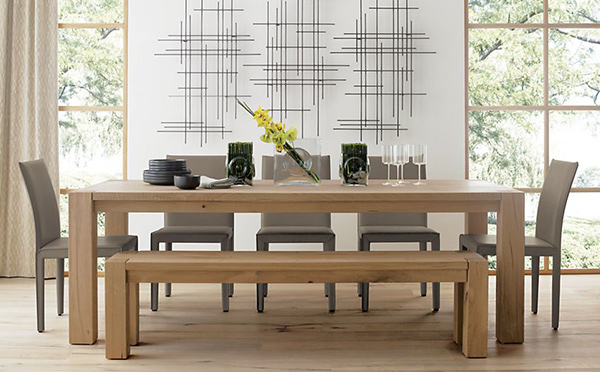 15 perfectly crafted large dining room table designs for Big dining table in small space
