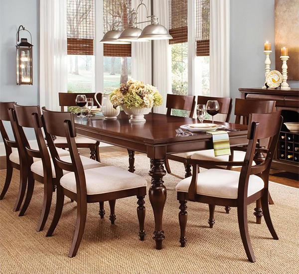graceful cheap kitchen table and chair design | 15 Perfectly Crafted Large Dining Room Table Designs ...