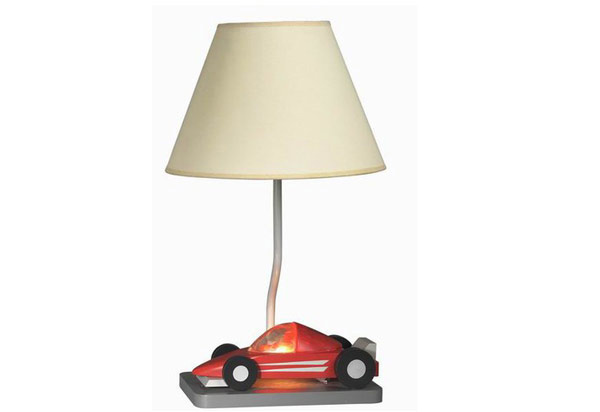 Table Lamp in Red