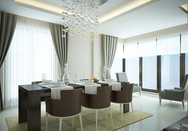 contemporary curtains for living room 15 gorgeous dining room curtains home design lover 19347