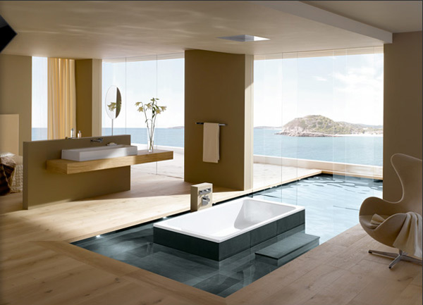 bathroom waterscape