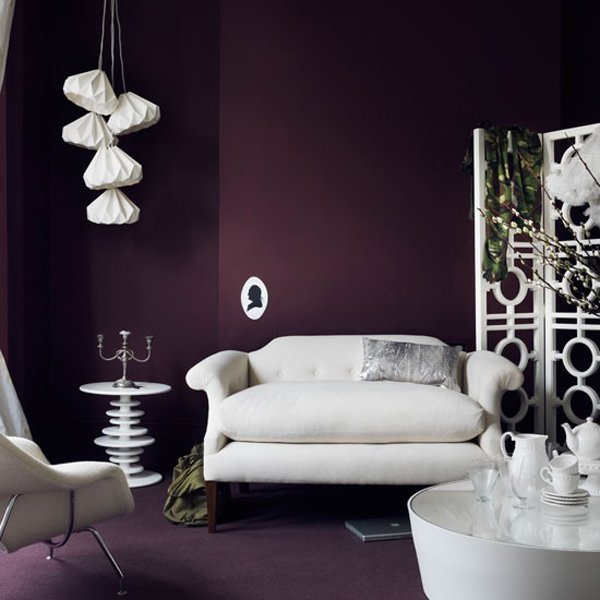 15 catchy living room designs with purple accent home for Black and purple living room ideas