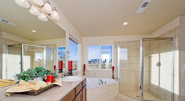 glass shower area