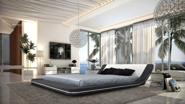 15 black and white bedroom ideas home design lover - Camera da letto lusso ...