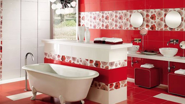 15 Lovely Bathrooms with Decorative Wall Tiles | Home ...