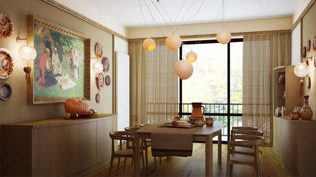 15 gorgeous dining room curtains home design lover for Dining room drapes